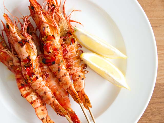 Grill Grill Grill! Grilled Prawns!